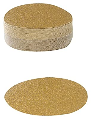 Karebac VDNH36 Hook and Loop Sanding Discs in Heavyweight Paper with 36 Grit Gold Aluminum Oxide (Pack of 50)