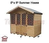 Total Sheds 8ft (2.4m) x 6ft (1.8m) Summer House Cabin Supreme Cabin