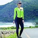 Conjuntos de ciclismo de triatlón para mujer, mono, pantalones ajustados de manga larga, jersey de bicicleta, traje de piel para correr, traje de MTB (Color : 2, Size : Medium)