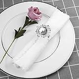 VORCOOL 12st Serviettenringe Servietten Halter Banquet Dinner Hochzeitsdekoration (Silber) - 4