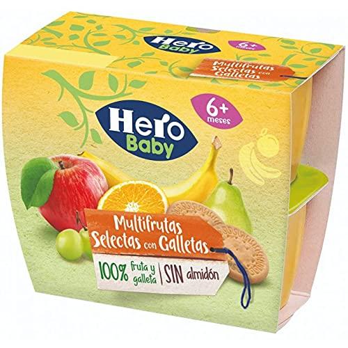 HERO BABY TODOFRUTA MULTIFRUTAS Y GALLETA 6 PACKS DE 4X100G