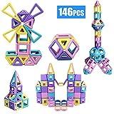 LKJHGFD Bloques de construcción magnéticos Stem Toy Set 146 PCS - Niños Aprendizaje Educativo Juguetes de construcción Niños Niñas 3 4 5 6 7 años-Regalo