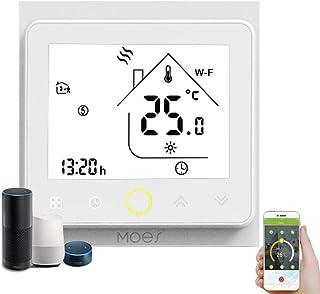 Decdeal - Termostato WiFi para caldera de Gas/Agua – Termostato Inteligente programable - Función de Control de Voz - Comp...
