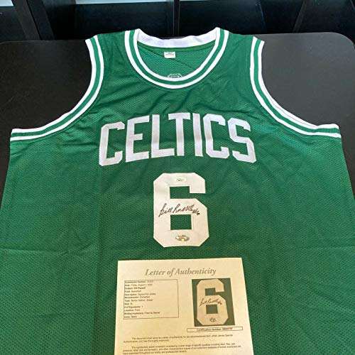 Bill Russell Signed Autographed Boston Celtics Jersey With JSA COA