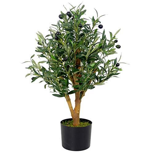 Leaf Planta Artificial de Hoja 45 cm, 45cm Olive