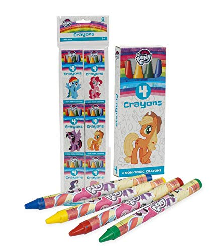 My Little Pony Crayons 6 Pack Restaurants, Party Favors, Birthdays, School Teachers & Kids Coloring Non-Toxic Crayons