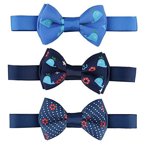 RUSPEPA Paquete infantil de Bowtie del bebé de los bebés/de las muchachas del uno mismo del corbata de 3 (C004)