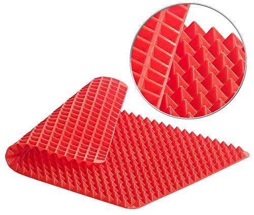 Rosenstein & Söhne Silikonmatte: Antihaftbeschichtete Silikon-Backmatte, Pyramiden-Noppen, bis 180 °C (Untersetzer)