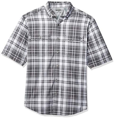 Wolverine Men's Springport Short Sleeve Shirt, Dark Gray Plaid, X Large