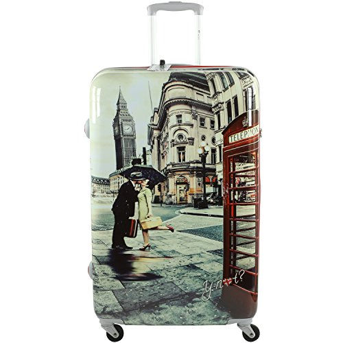 Valigia Trolley Grande 4 ruote Y Not - 1003 Romantic London