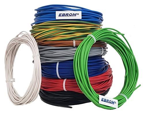 Aderleitung - Einzelader starr - PVC Leitung - H07V-U 2,5 mm² - Farbe: hellblau 10m/15m/20m/25m/30m/35m/40m/45m/50m/55m/60m bis 100 m frei wählbar