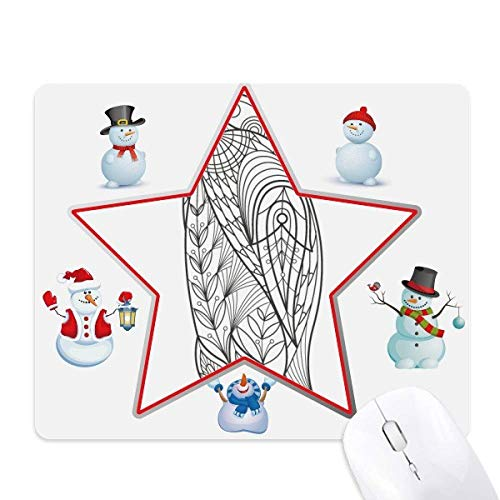 Biggest Bird Paint Cold Christmas Snowman Family Star Mouse Pad