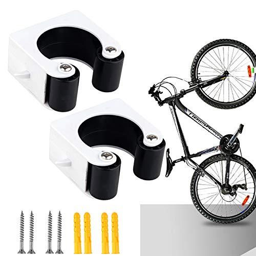 Joyhoop Fahrradhalter Wandhalterung,2 Stück Schwarz Wand Halterungen Halterung Fahrradständer, Fahrradhalterung Platzsparende Fahrrad Wandhalterung,Wandhalter Für Die Garage Rennrad