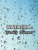 Natasha Weekly Planner: Name or Family Name 52 Weeks Undated Unlined Vertical Columns  Notebook with To-Do List and Notes Daily Organizer Gifts For Men Women Teachers White Marble Cover...