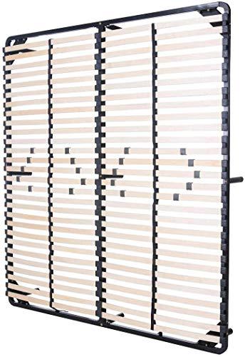 MOG CASA - Somier Negro multiláminas con reguladores lumbares (con patas incluídas) Metalizado anticorrosion Varias medidas (180x200cm)