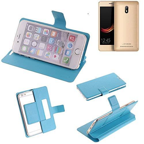 K-S-Trade® Flipcover Für Leagoo Z6 Schutz Hülle Schutzhülle Flip Cover Handy Case Smartphone Handyhülle Blau