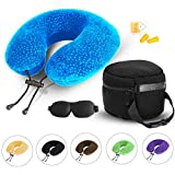 AERIS Memory Foam Travel Neck Pillow with Sleep Mask,Earplugs,Carry...