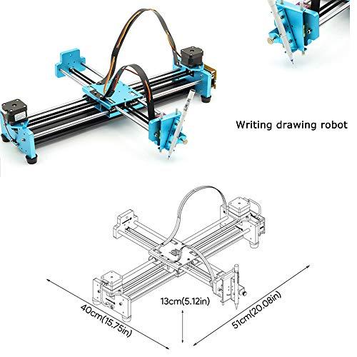 Kit robot de peinture/écriture,Traceur d'axe XY d'écriture de dessin de bricolage automatique d'écriture de robot,pour, stylo de couleur, crayon, stylo de défilement A