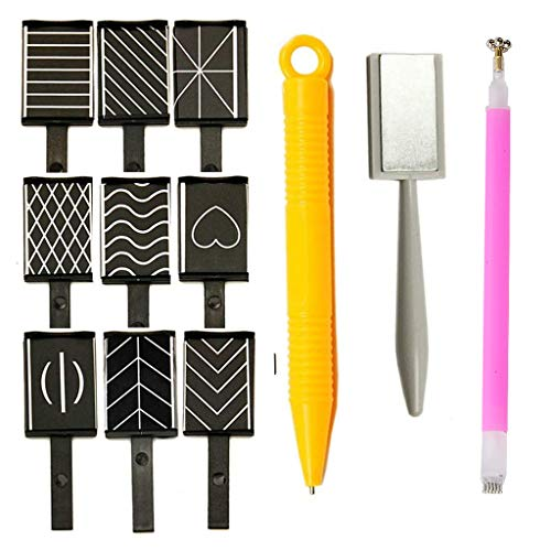 12 Stück Nail Art Werkzeug Magnetstift DIY Magic 3D Magnet Stick Set Verwendung mit Cat Eye Gel Pulver oder Nagellack - Magnetische Stift Katze Eye Pen für Ideal Katzenaugen Maniküre Magische Effekt