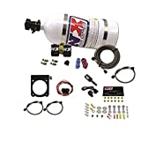 Nitrous Express 20971-10 Nitrous Plate System Incl. 10 lb. Bottle/Lightning 500 Valve/Lightning Solenoids/Braided Lines/Master Arming Switch/50-200 HP Jetting/Hardware Nitrous Plate System
