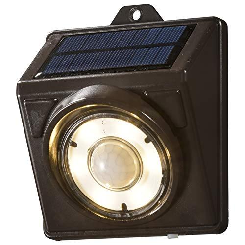 オーム電機 E-Bright センサーLEDソーラーライト200lm 電球色 LTSSLS20LW1, 小