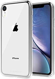 MoKo Compatible with iPhone XR Case, Soft Clear Case with Light and Slim Flexible TPU Bumper Scratch-Resistant Shockproof Protective Cover Fit with iPhone XR 6.1 inch 2018 - Crystal Clear