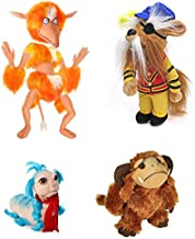 Labyrinth Plush Set with Ludo, The Worm, Sir Didymus and Firey (4-Figure Set), Stuffed Toys from Jim Henson's Labyrinth Fantasy Movie