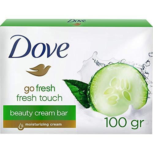 Dove Waschstück Beauty Cream Bar mit Gurke und Grünem Tee für die tägliche Hautreinigung mit 1/4 Feuchtigkeitscreme und milden Reinigungsstoffen, 1er Pack(1 x 100 g)