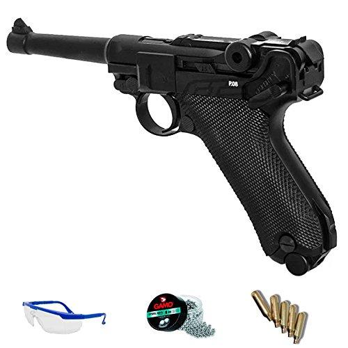 LEGENDS Pack réplica Luger 08 - Umarex P08 Full Metal (Pistola de Aire comprimido CO2 y balines de Acero) <3,5J