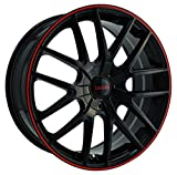 Touren TR60 3260 Wheel with Black Finish with Red Ring (18x8'/5x100mm)
