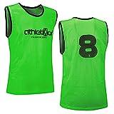 athletikor 12 Fußballleibchen mit Rückennummern - Trainingsleibchen - Leibchen - Markierungshemden...