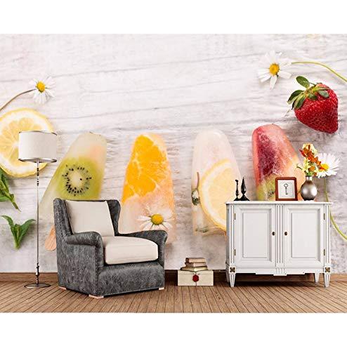Dalxsh Snoepjes Ijs Fruit Voedsel Foto 3D Behang Bank Slaapkamer Tv Achtergrond Woonkamer Keuken Bar Aangepaste Muren 200x140cm