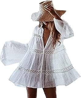 Women's Rayon Beach Mini Dress Print Kimono Jacket Cardigan Bikini Swimsuit Cover Up Swimwear