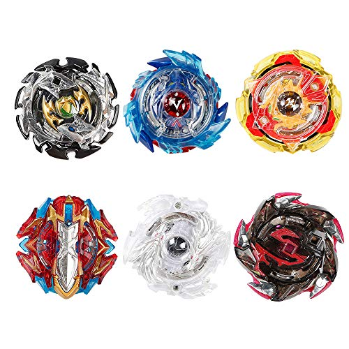 Innoo Tech 6 Stück Kampfkreisel Set, 4D Fusion Modell Metall Masters Beschleunigungslauncher, Speed Kreisel, tolles Kinder Spielzeug