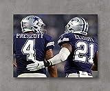 Kai'Sa NFL Dallas Cowboys Prescott & Elliott Poster
