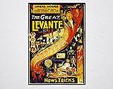 The Great Levante In Wellington 1941 Poster, Magic, Magier,
