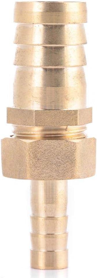 Akozon Conector de enchufe reductor reductor de cola de manguera de conexi/ón de lat/ón 10mm-16//19//25mm 10-16mm Accesorios de tuber/ía