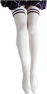 inhzoy Femme Bas de Contention Longues Chaussettes Brillante