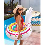 """Llama Pool Float Ride On Party Toys Alpaca Inflatable Swimming Ring Fiesta Water Supplies - for Adults or Kids 14 This llama ride-on float is a adorable addition to your pool party this summer. Made of premium polyvinyl chloride.Soft,durable and thick material. Measurement :41"""" X 37"""".Perfect for swimmers of all sizes and rated at 400 pounds."""