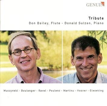 Flute Recital: Bailey, Don - Muczynski, R. / Boulanger, L. / Ravel, M. / Poulenc, F. / Martinu, B. / Hoover, K. / Gieseking, W.