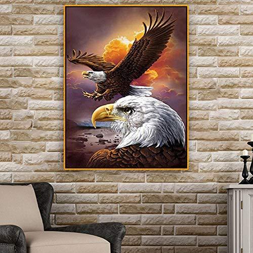Puzzle 1000 piezas Cuadro de pintura europea moderna águila puzzle 1000 piezas paisajes Rompecabezas de juguete de descompresión intelectual educativo divertido juego familiar para50x75cm(20x30inch)