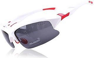 GLJJQMY Riding Sports Glasses Outdoor Sunglasses Riding Polarized Glasses Sunglasses (Color : White)