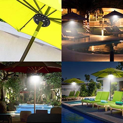 GKJRKGVF 28 LEDs Paraplu Licht Patio Paraplu Draadloze 28 LED Lichten Outdoor Camping Paraplu Pole Reizen Nachtlampen
