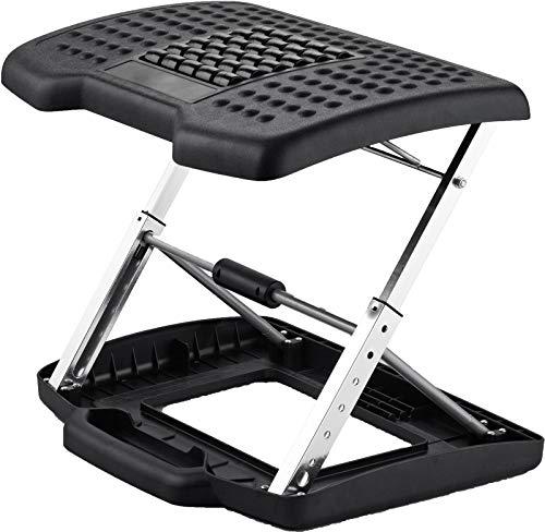 Adjustable Footrest for Home Office, Or Under Desk Ergonomic Foot Rest (Footstool) (Height Adjustable with Handler)