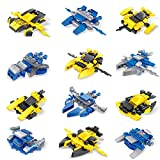 FUN LITTLE TOYS 12 Boxes Mini Building Blocks Sets Spaceship building blocks for Kids Party Favors