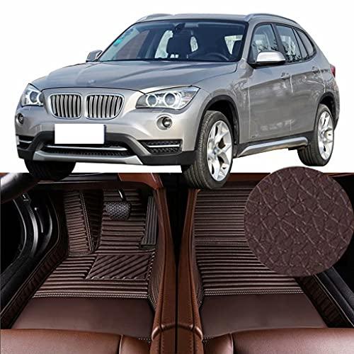 QCYP Alfombrillas para Coches Adecuado para BMW X1 xDrive20i (4WD Delantera/Neumático: 225/45 R18) SUV de 5 Puertas y 5 plazas 2013 Alfombrillas para Todo Tipo de Clima Alfombras de Auto,LHD