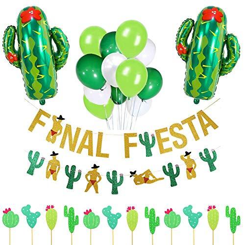 Carnaval decoratieset, aluminium film slinger banner cake kaart ballon, bar party decoratie