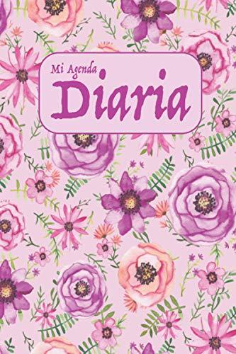 Mi Agenda Diaria: Diseño floral vintage en rosa y morado: agenda diaria,...