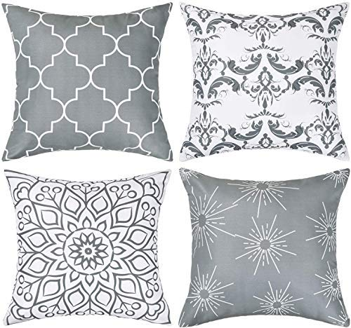 10 best gray throw pillows for bed for 2021
