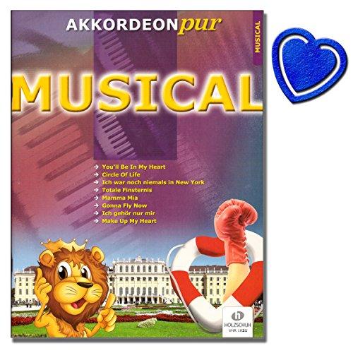Musical Akkordeon pur - Noten / Spezialarrangements im mittleren Schwierigkeitsgrad von Hans-Günther Kölz - [Noten/Sheetmusic] - mit bunter herzförmiger Notenklammer
